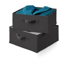 Two Pack of Drawers for Hanging Organizer in Black