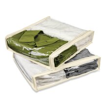 Two Pack Storage Bag in Clear and Natural