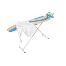 Ironing Board with Iron Rest in White Powder Coat