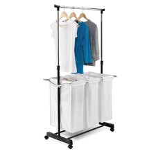 <strong>Honey Can Do</strong> Adjustable Height Laundry Center in Chrome