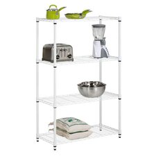Four Tier Shelving Unit in White