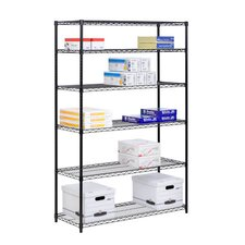 Six Tier Steel Shelving in Black