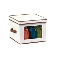 Natural Canvas Window Storage Box