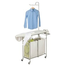 Foldable Laundry Center in Chrome