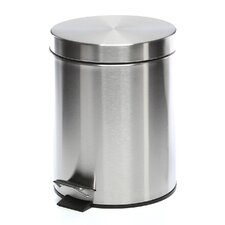 5 Liter Round Stainless Steel Step Trash Can