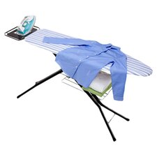 <strong>Honey Can Do</strong> Four Leg HD Ironing Board with Iron Rest in Black and Blue