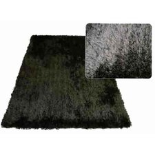 Super Shag Black Rug