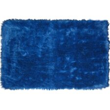Flokati Dark Blue Rug