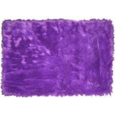 Flokati Purple Rug