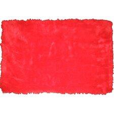Flokati Red Rug