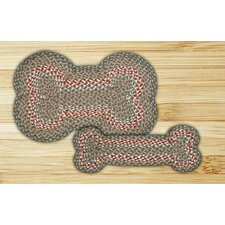 Green/Burgundy Dogbone Novelty Rug
