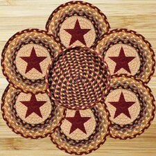 7 Piece Star Trivets in a Basket Set