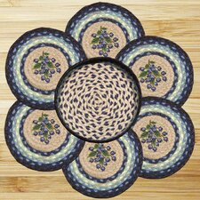 7 Piece Blueberry Trivets in a Basket Set