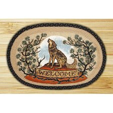 <strong>Earth Rugs</strong> Wolf Welcome Novelty Rug