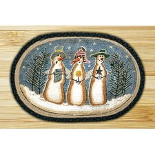 Three Snowmen Novelty Rug