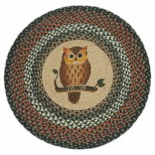 <strong>Earth Rugs</strong> Owl Novelty Rug