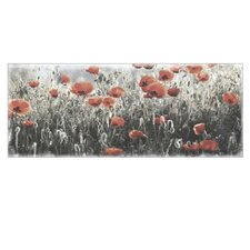 "Wandbild ""Red Dot Meadow II"" - 50 x 125 cm"