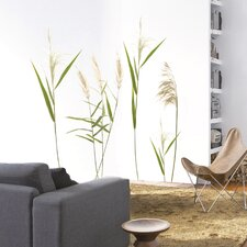 "Wandaufkleber ""Wall Grasses"" - 50 x 70 cm"