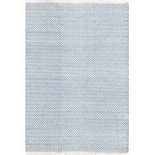 Herringbone Swedish Blue Geometric Area Rug