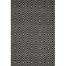 Woven Diamond Black/Ivory Indoor/Outdoor Rug