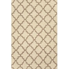 <strong>Dash and Albert Rugs</strong> Hooked Plain Tin Ivory Rug