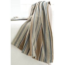 Heron Stripe Woven Cotton Throw