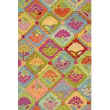 Hooked Field of Flowers Rug
