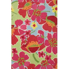 Hooked Power Poppies Micro Rug