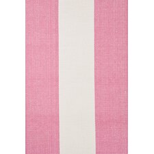Woven Pink Yacht Stripe Area Rug