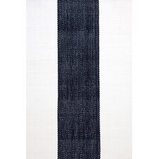 <strong>Dash and Albert Rugs</strong> Woven Lakehouse Navy/White Rug