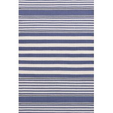 <strong>Dash and Albert Rugs</strong> Indoor/Outdoor Beckham Denim Striped Rug