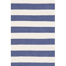 Indoor/Outdoor Catamaran Blue/White Striped Outdoor Area Rug