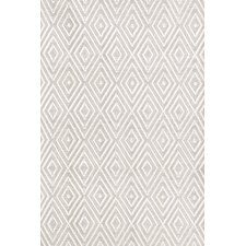 Indoor/Outdoor Diamond Gray & White Outdoor Area Rug