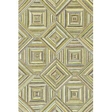 Cotton Micro-Hooked Kaledo Green Rug