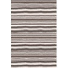 Indoor/Outdoor Rugby Light Charcoal Striped Outdoor Area Rug