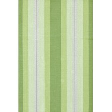 Woven Cotton Thyme Ticking Green Area Rug