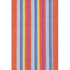 Woven Cotton Tigerlily Striped Rug