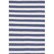 Indoor/Outdoor Trimaran Blue/White Striped Outdoor Area Rug