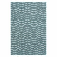 <strong>Dash and Albert Rugs</strong> Woven Diamond Slate/Light Blue Rug