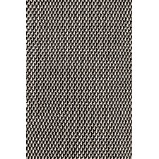 Two Tone Rope Black/Ivory Rug