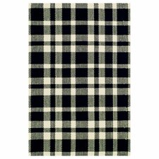 <strong>Dash and Albert Rugs</strong> Woven Tattersall Black/Ecru Rug