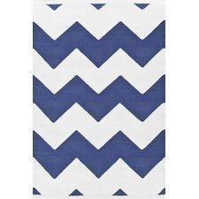 Chevron Denim/White Indoor/Outdoor Rug