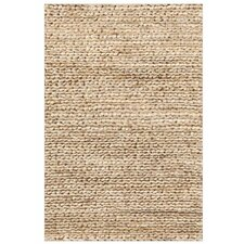 Natural Jute Woven Beige Area Rug