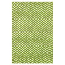 Woven Diamond Sprout/White Indoor/Outdoor Rug