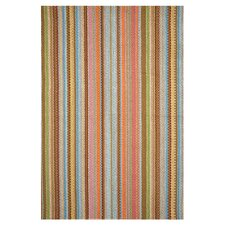 Woven Zanzibar Ticking Area Rug