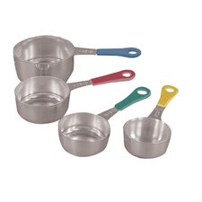 Stainless Steel Measuring Cups with Colored Handle (Set of 4)