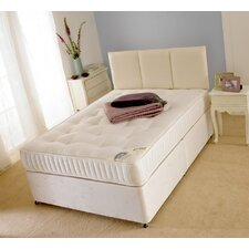 Super Open Coil Sprung Medium Firm Mattress with Damask Cover