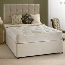 Katie Quilted Open Coil Sprung Mattress with Damask Cover