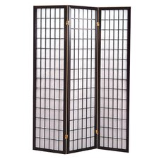 "<strong>Hazelwood Home</strong> 70"" x 53"" Sonji 3 Panel Room Divider"