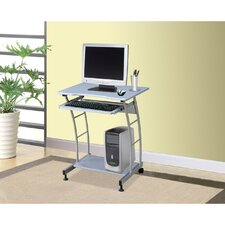 <strong>Hazelwood Home</strong> Hazelwood Home Computer Cart 4410 in Silver